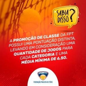 SABIA DISSO? PROMOÇÃO DE CLASSES 2019