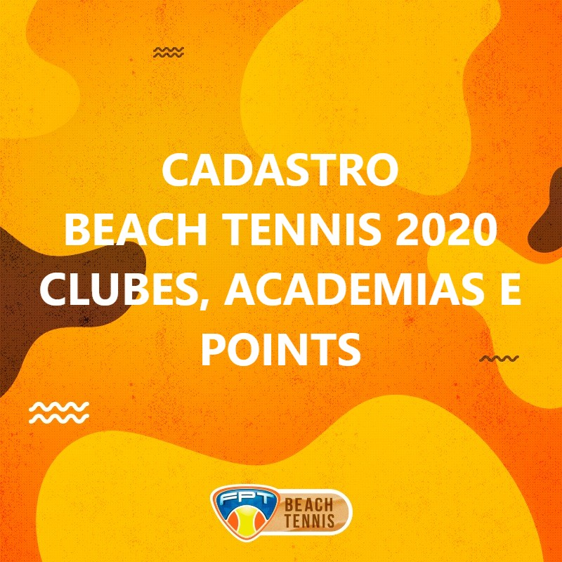 CADASTRO BEACH TENNIS – CLUBES, ACADEMIAS E POINTS