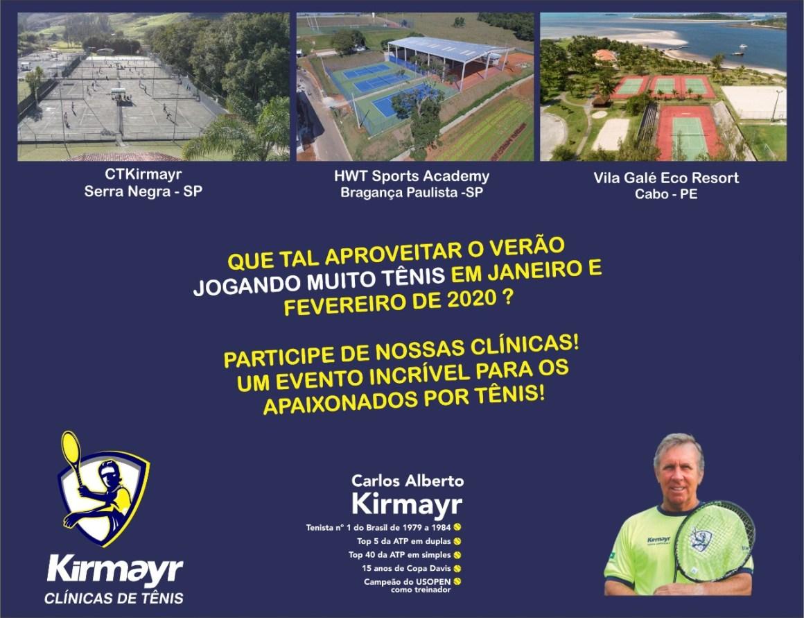 CLÍNICAS DE TÊNIS KIRMAYR – VERÃO 2020