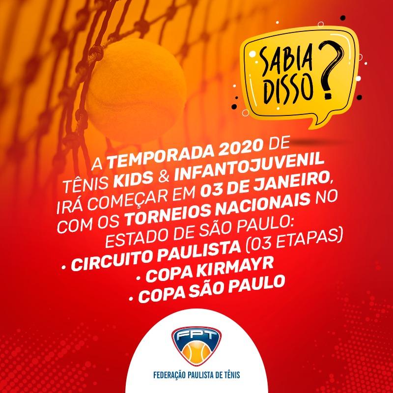 SABIA DISSO? INÍCIO DE TEMPORADA 2020 – TORNEIOS DE TÊNIS NACIONAIS