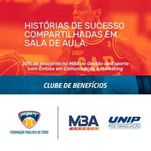 UNIP/MBA SPORTS – NOVA PARCEIRA DO CLUBE DE BENEFÍCIOS DA FPT