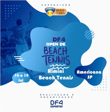 CIRCUITO DF4 – ETAPA RIMINI BEACH TENNIS – SORTEIO DE GRUPOS