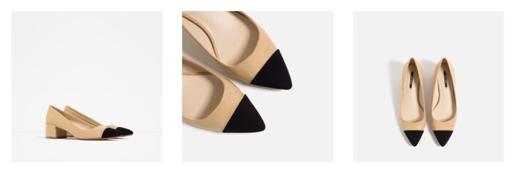 Zara cap toe shoe