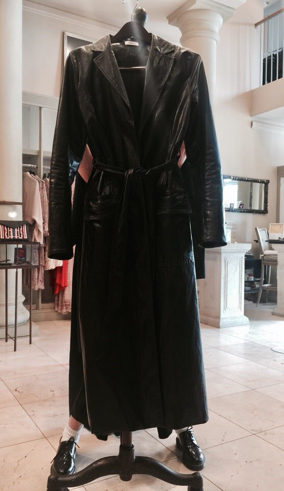Nomia Pleather Trench in vegan leather duster