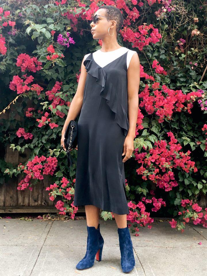 Grana Women's Ruffle Front Dress