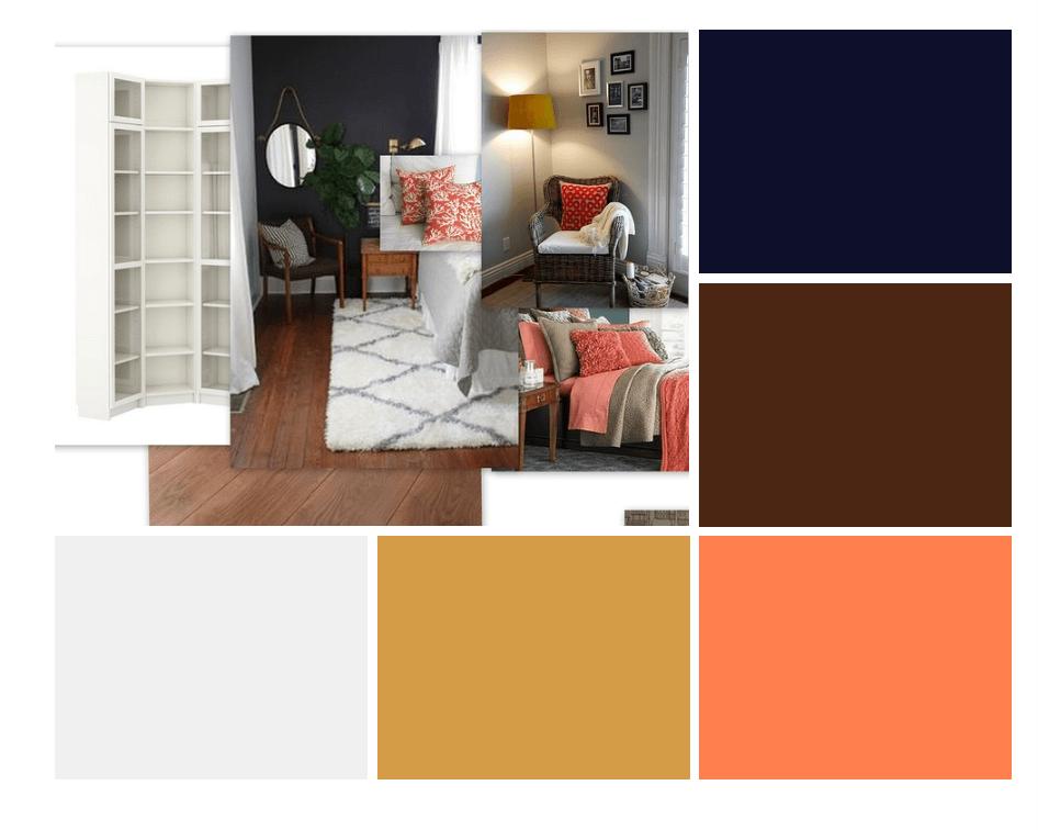 spalvos miegamajam