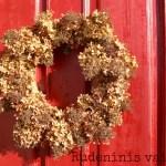 Vainikas ant durų. Koks tinkamiausias rudeniui?