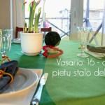 Kuriame tradicijas. Vasario 16 – osios pietų stalo dekoras