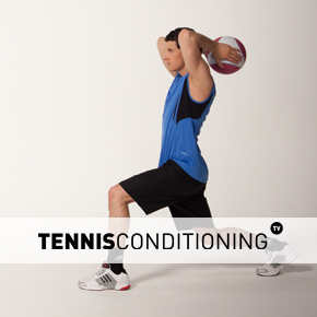 Lunge Overhead Med Ball Throw