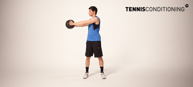Medicine Ball Trunk Rotation