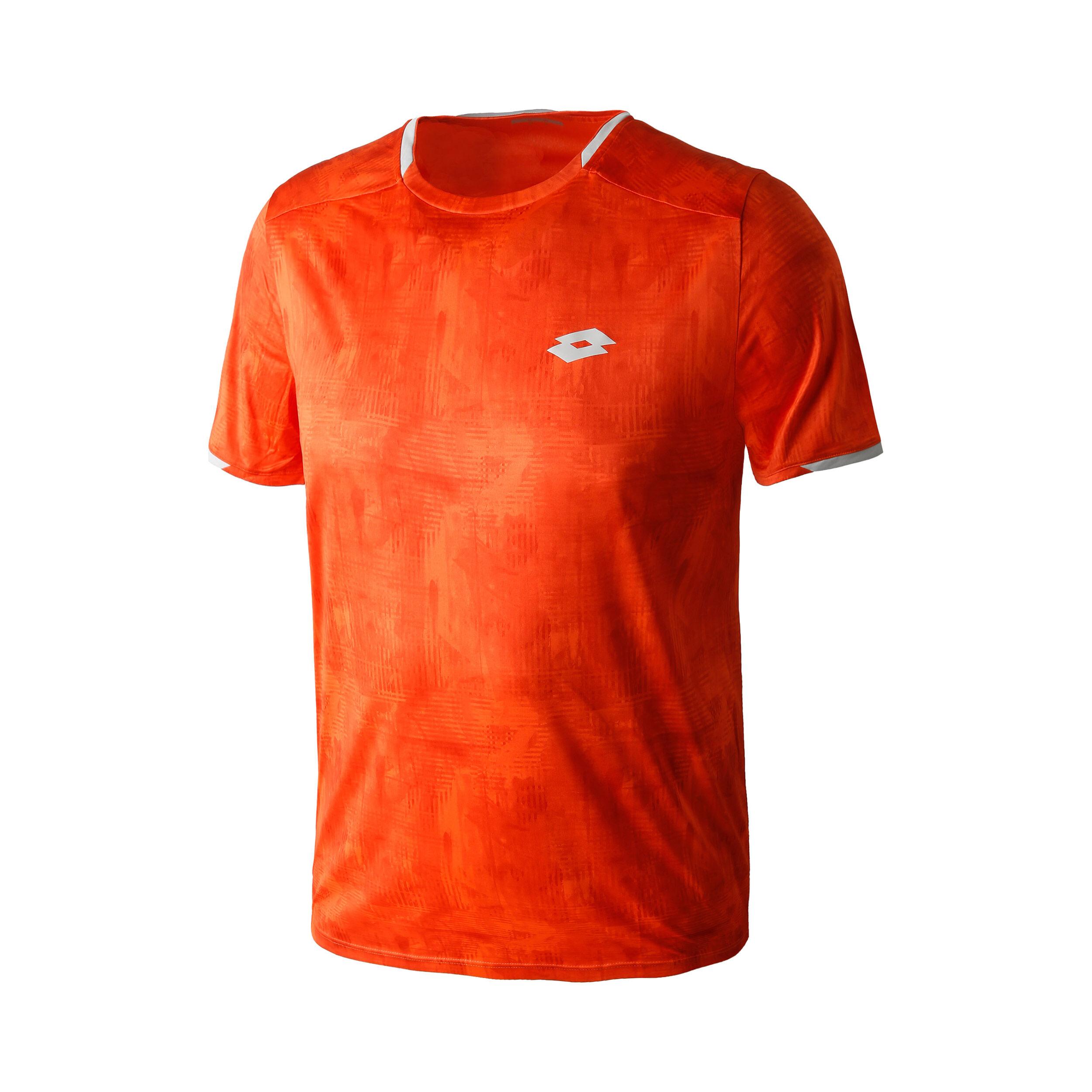 Lotto Top Ten Printed PL T-Shirt Jungen - Orange. Silber online kaufen   Tennis-Point