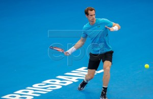 Andy Murray of Great Britain in action during a training session at the Pat Rafter Arena ahead of the Brisbane International in Brisbane, Australia, 30 December 2018. The Brisbane International will run from 30 December 2018 to 06 January 2019. EPA-EFE/GLENN HUNT EDITORIAL USE ONLY AUSTRALIA AND NEW ZEALAND OUT