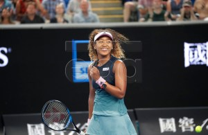 Naomi Osaka of Japan reacts against Tamara Zidansek of Slovenia during their round two women's singles match on day four of the Australian Open Grand Slam tennis tournament in Melbourne, Australia, 17 January 2019. EPA-EFE/LYNN BO BO