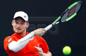 David Goffin of Belgium in action during his men's singles second round match against Marius Copil of Romania at the Australian Open Grand Slam tennis tournament in Melbourne, Australia, 17 January 2019. EPA-EFE/LYNN BO BO