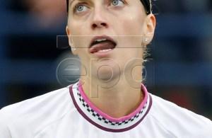 Petra Kvitova of the Czech Republic reacts during her semi final match against Su-Wei Hsieh of Taiwan at Dubai Duty Free Tennis WTA Championships 2019 in Dubai, United Arab Emirates, 22 February 2019. EPA-EFE/ALI HAIDER