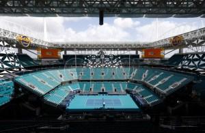 A general view of Hard Rock Stadium at the Miami Open tennis tournament in Miami, Florida, USA, 28 March 2019. Hard Rock Stadium is also the home of the NFL (National Football League) Miami Dolphins. EPA-EFE/JASON SZENES