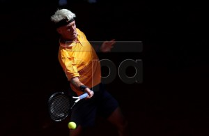Spanish player Nicola Kuhn in action during his men's qualifying match against US player Taylor Fritz at the Mutua Madrid Open tennis tournament in Madrid, Spain, 04 May 2019. EPA-EFE/CHEMA MOYA