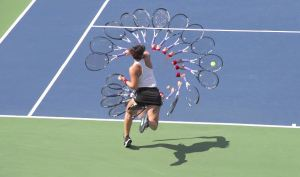 Bianca Andreescu forehand swing path