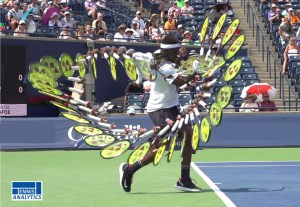 Frances Tiafoe's forehand swing path
