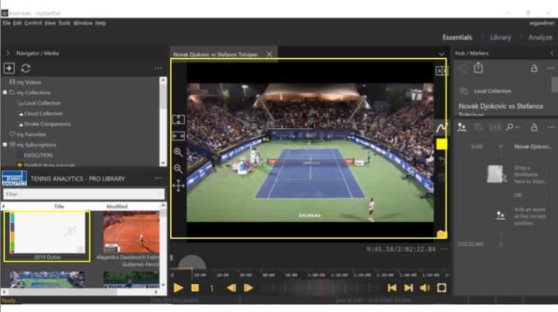 Dartfish 360S tennis software