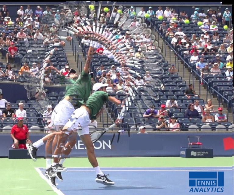 Novak Djokovic's serve.