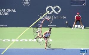 Bianca Andreescu's serve