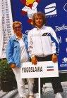 Capitano Squadra Nazionale Giornalisti Yugoslavia a Stetino (PL), con la moglie Mimma
