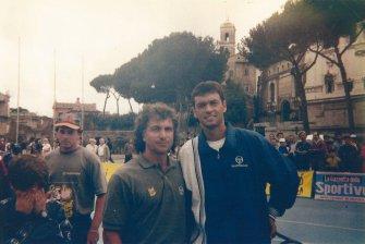 Tennis in PIazza, Roma: il coach Bata con Brughera