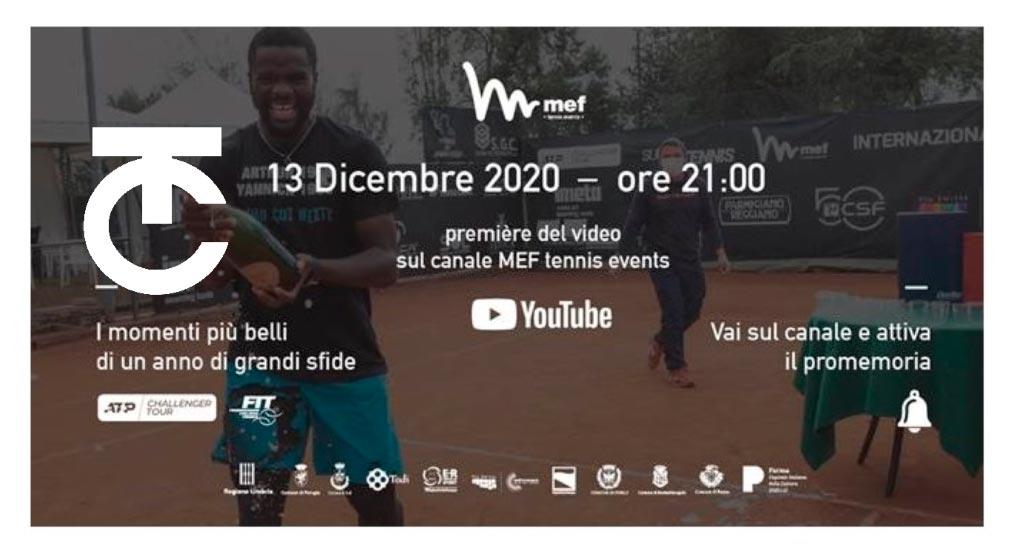 VIDEO di ringraziamento da MEF TENNIS EVENTS