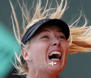 Maria Sharapova in the 2012 The French Open final