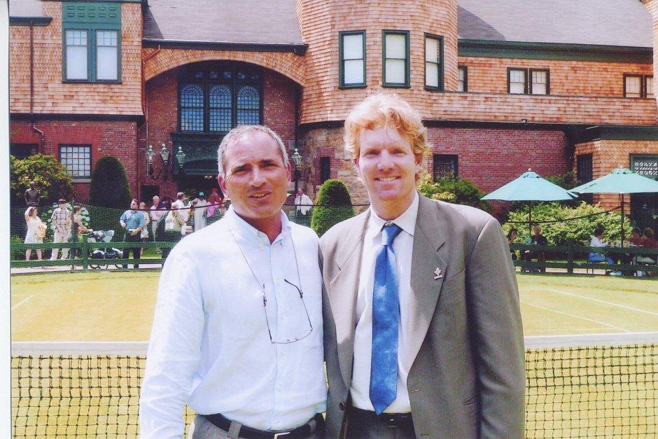 Nick Saviano and Jim Courier