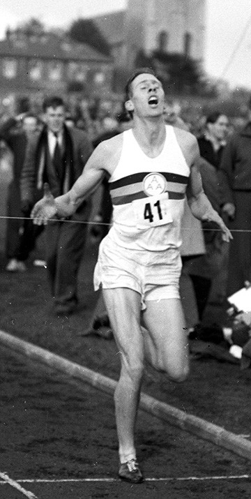 Roger Bannister, later Sir Roger, became the first man to break the four-minute mile at Iffley Road, Oxford in May 1954. The cinder track was built by En Tout Cas. Bob Shepherd, the first generation of the shepherd family to be involved with En Tout Cas, helped to build the track.