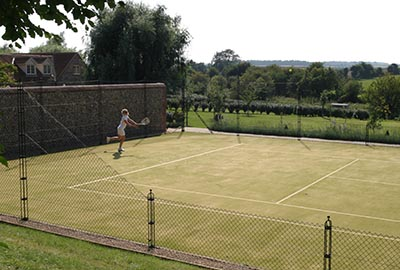 Obelisk tennis court fencing by En Tout Cas is strong and stylish