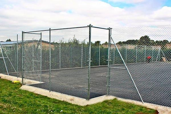 Goal recess on a multi use games are (MUGA) by En Tout Cas