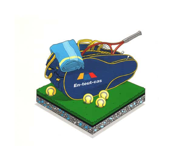 En Tout Cas Tennis Bag logo