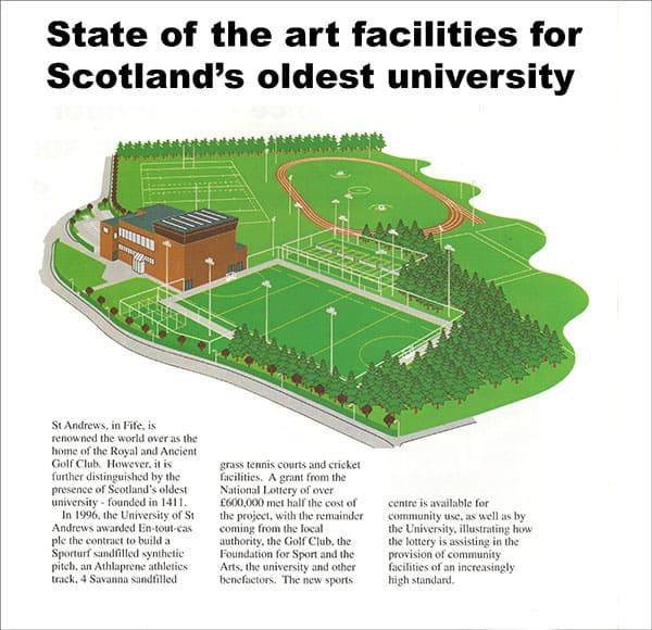 En Tout Cas sports surfaces at St Andrews University