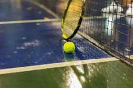 All weather tennis court by En Tout Cas