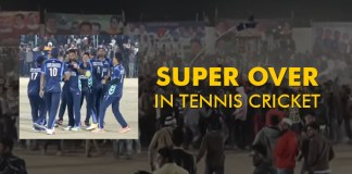 SUPER OVER in mega final in tennis cricket