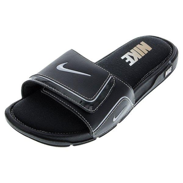 Nike Mens Comfort Slide 2 Black Met Silv