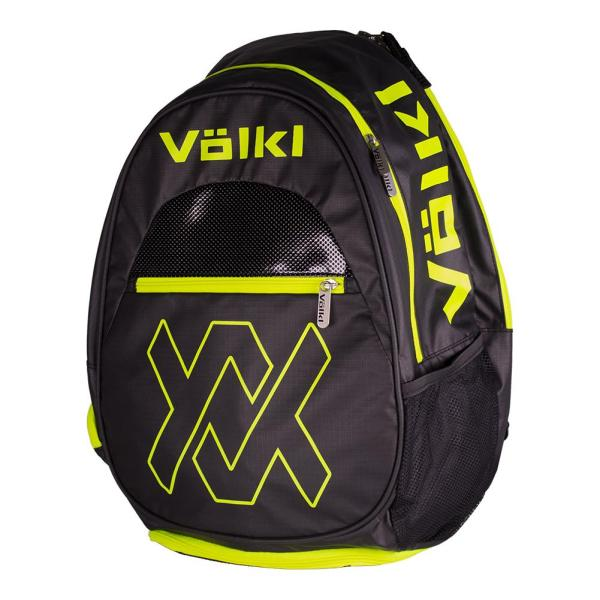 Volkl Tour Tennis Backpack Black And Neon Yellow