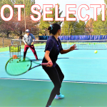 Tennis shot selection drills