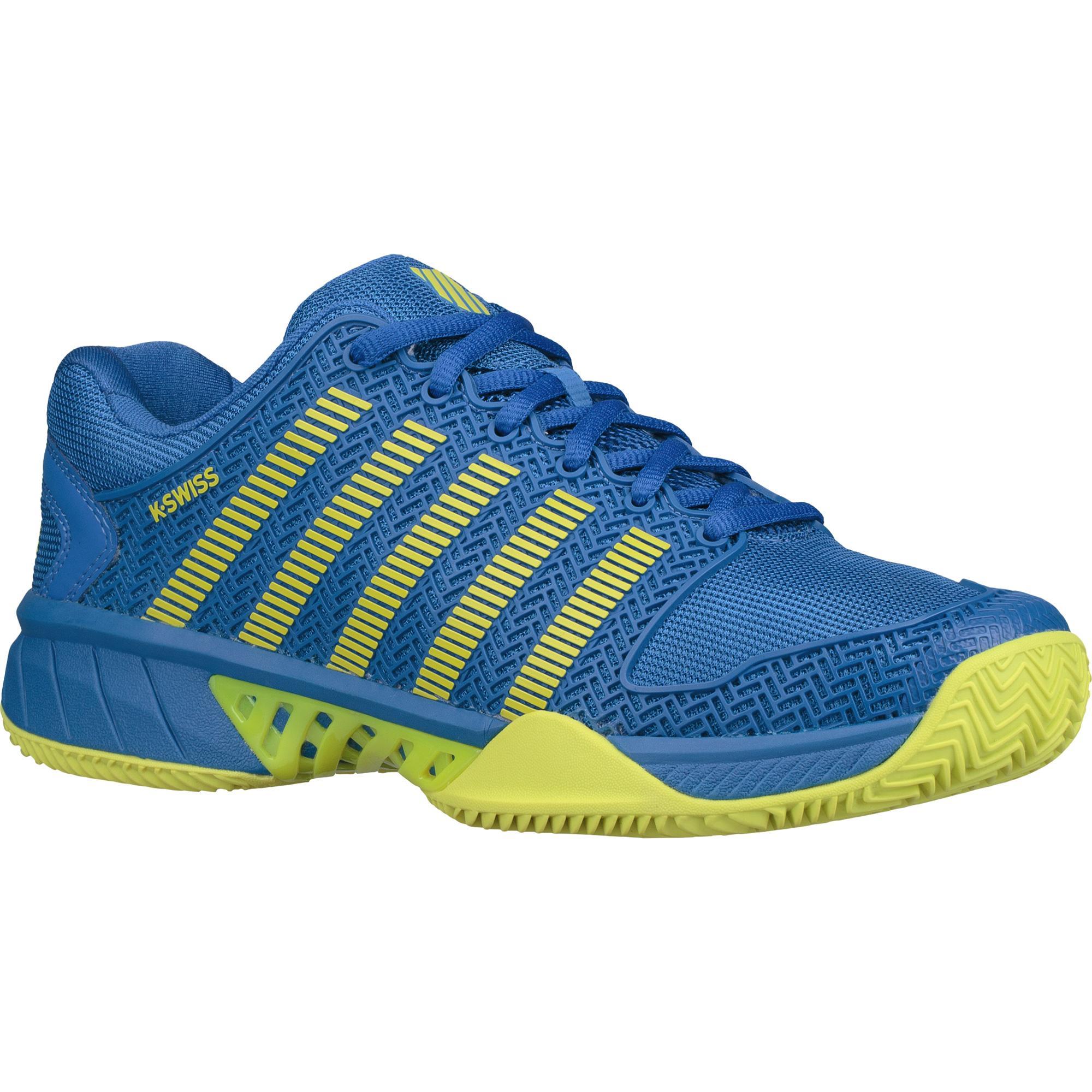 K-Swiss Mens Hypercourt Express HB Tennis Shoes - Blue/Citron - Tennisnuts.com