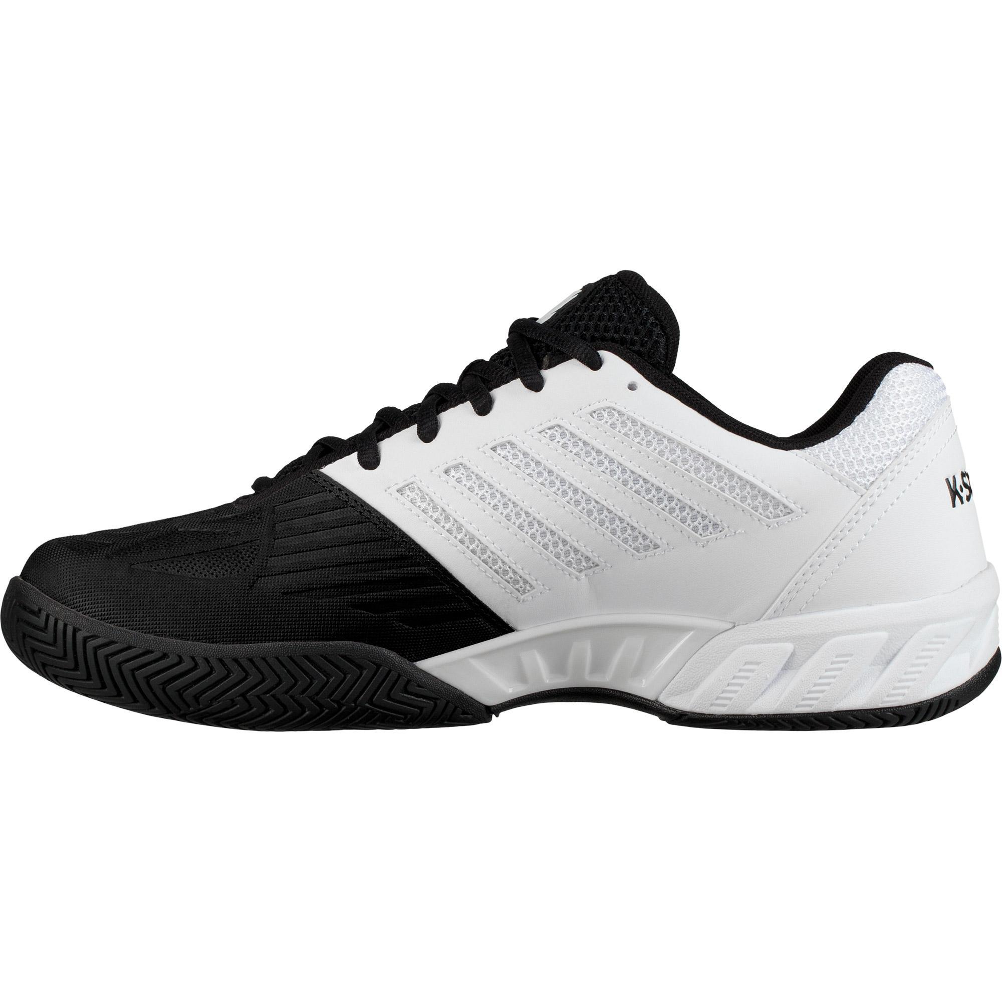 K-Swiss Mens BigShot Light 3 Tennis Shoes - White/Black - Tennisnuts.com