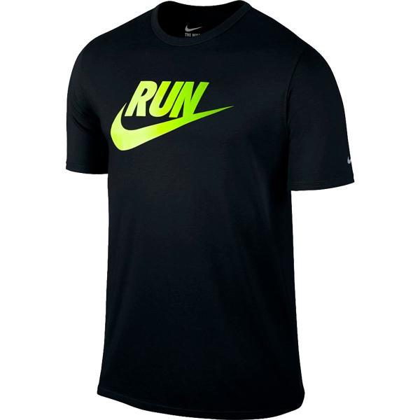 Nike Mens Run Dri-blend Swoosh Running T-shirt - Black