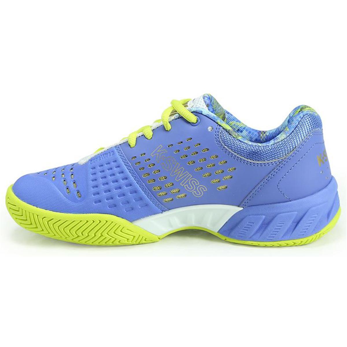 K-Swiss Kids BigShot Light 2.5 Shoes - White/Blue - Tennisnuts.com