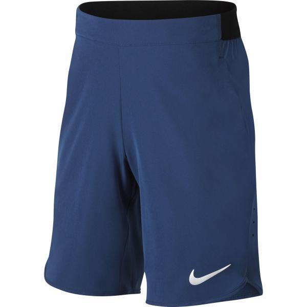 Nike Boys Flex Ace Tennis Shorts - Gym Blue White