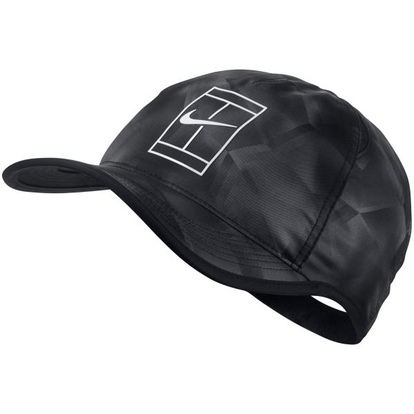 Nike Court Aerobill Tennis Cap - Black White