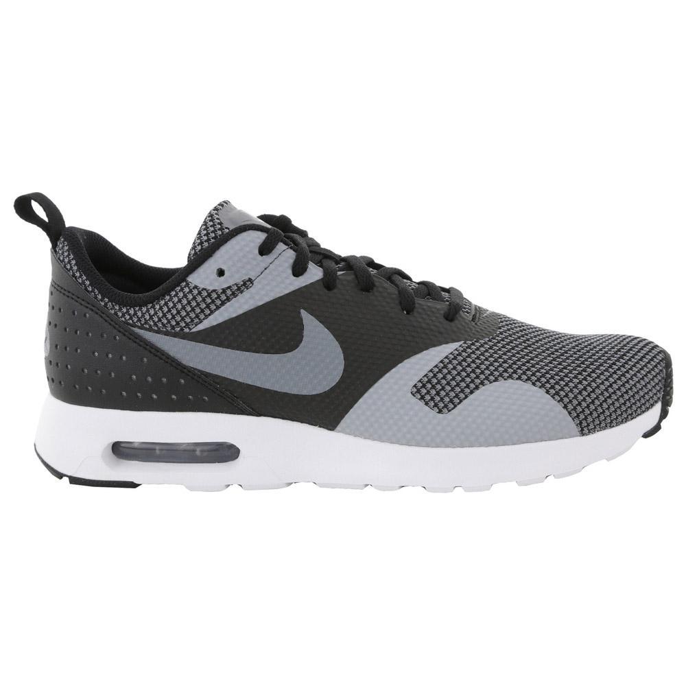 Nike Mens Air Max Tavas Premium Running Shoes - Black/Cool Grey - Tennisnuts.com