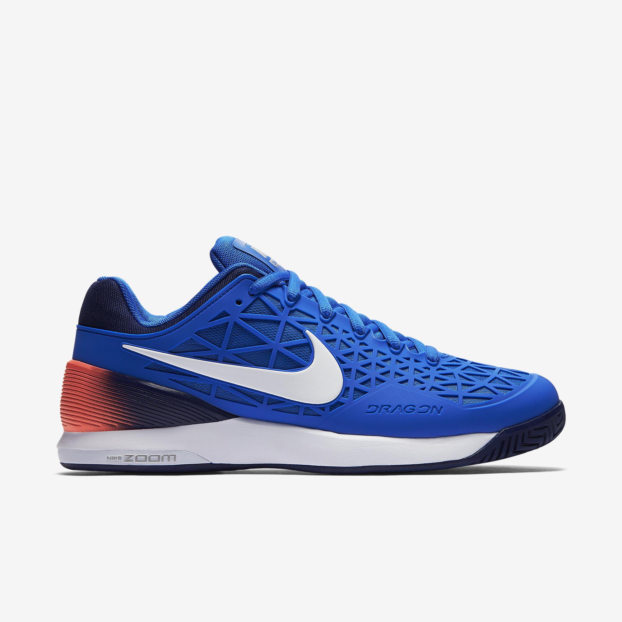 Nike Mens Zoom Cage 2 EU Tennis Shoes  Blue  Tennisnutscom