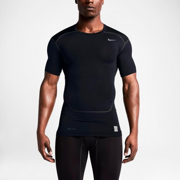 Nike Pro 2.0 Combat Core Short Sleeve Shirt - Black Cool
